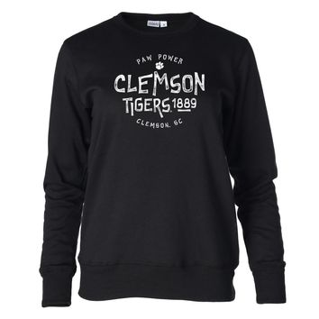 Official NCAA Clemson Tigers CL18CL58 Women's Fleece Crew Neck Sweatshirt