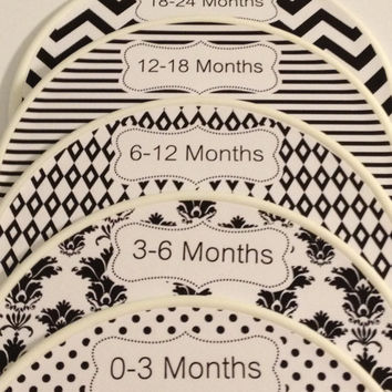 5 Custom Baby Closet Dividers Organizers Shabby Chic Black - 12 More Colors Available Unique Baby Girl Shower Gift Infant Stocking Stuffers
