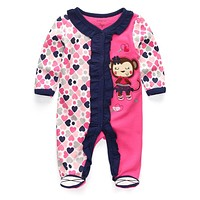 Baby Girls Rompers Clothing Cotton Cartoon Newborn girl winter clothes roupa infantil Baby clothes ,baby product