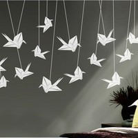 Surface Collective's Wall Tattoos / Wall Decals / Laptop Decals - Product - Origami Cranes