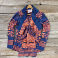 Wood Sled Sweater in Rust