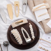 Fashion New More Style Pearl Personality Hair Clip Headwear Women Accessories