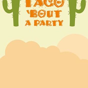 Custom Taco Bout A Party Backdrop Cactus Background Fiesta (ANY TEXT) Wedding, Baby Shower - C0169