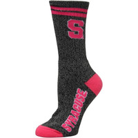 Syracuse Orange Women's Marble Medium 504 Socks – Gray/Pink
