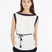 Belted Colorblock Shell | Ann Taylor