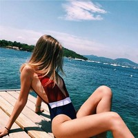 New Arrival Swimsuit Beach Summer Sexy Hot Swimwear Ladies Patchwork Bikini [167719763983]