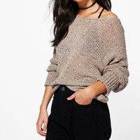 Connie Popcorn Knit Jumper | Boohoo