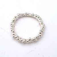 Bubbles ring - sterling silver ring - nature inspired