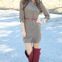 The Little Things Dress: Olive | Hope's