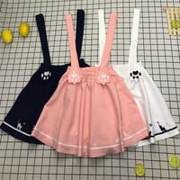 Cat Paw Suspender Skirt