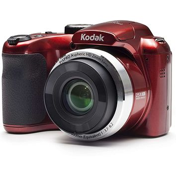 """Kodak PIXPRO Astro Zoom AZ252-RD 16MP Digital Camera with 25X Optical Zoom and 3"""" LCD (Red)"""