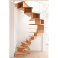 WOODEN SPIRAL STAIRCASE OLMO | JO-A