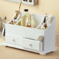 Wooden Beauty Organizers - White