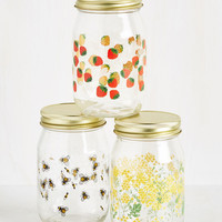 Posh Pantry Jar Set in Meadow | Mod Retro Vintage Kitchen | ModCloth.com