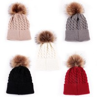 Toddlers Winter Soft Cashmere Beanie Bonnet For Girls