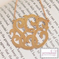 Cut Out Monogram Necklace {Rose Gold}