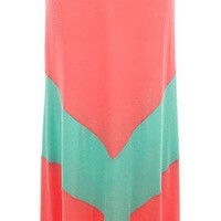 """""""if it's chevwrong i don't wanna be right"""" skirt in coral with mint chevron stripe - three bird nest"""
