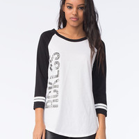 Young & Reckless 3Peat Womens Raglan Tee White/Black  In Sizes