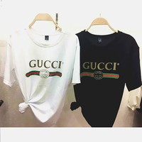"""Gucci""Hot letters print T-shirt top H"