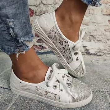 New! Women Pu Casual Outdoor Athletic Hiking with Lace Shoes