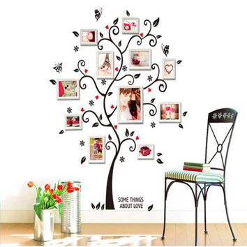 Room Photo Frame Decoration Family Tree Wall Decal Sticker Poster on a Wall Stickers Tree Wallpaper Kids Photoframe Art