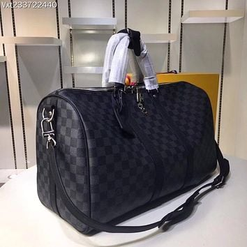 LV Louis Vuitton MONOGRAM CANVAS KEEPALL 50 SHOULDER BAG TRAVEL BAG