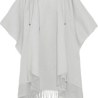 Balenciaga - Wool and cashmere-blend hooded poncho