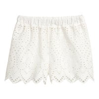 H&M Shorts with Eyelet Embroidery $14.99