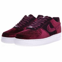 "Nike Air Force 1 '07 Low Velvet ""Wine Red""896185-600"