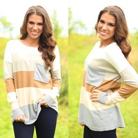 Block Party Sweater in Brown