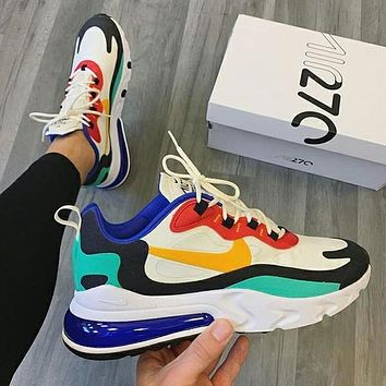 NIKE Air Max 270 React Sneakers Sport Shoes