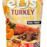 Plato Pet EOS Savory Turkey & Pumpkin Dog Treats 12 oz