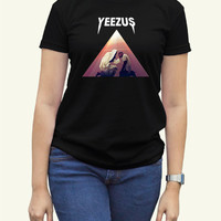 Kanye West Yeezus Black Women Clothing High Quality tee S,M,L and XL (Y5)