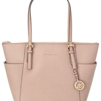 MICHAEL Michael Kors Jet Set Top-Zip Leather Handbag Tote