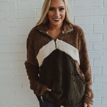 Snuggle Time Sherpa Pullover