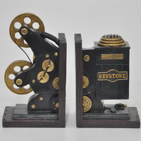 Resin Projector Bookend Set Of 2