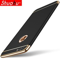 Luxury Ultra Thin Shockproof Phone Cover Case for iPhone 6 6s 7 Plus 5 5s 360 Full Body Coverage Phone Cases For i6 i6s i7 Plus