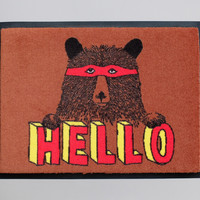 'Hello Bear' welcome doormat