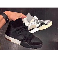 New Designer Crossover Brand Leather Ankle Boots Flat Boost Mens Sneakers Womens Casual Shoes Fashion White / Black / Brown Leather   Best Deal Online