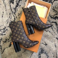 Louis Vuitton Lv Monogram Silhouette Ankle Boot #2162