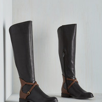 Military Equestrian Crossing Boot in Black