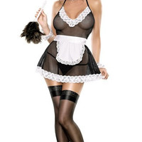 Plus Size Chamber Maid Lingerie Costume