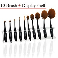 KINGMAS(R) Makeup Brushes, Professional 10 Piece Soft Oval Makeup Brush Set, Powder Blush Foundation Concealer Make Up Brush Cosmetics Tool