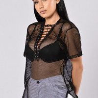 Laced Up Tee - Black