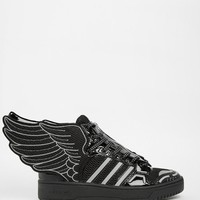 Adidas | adidas Originals by Jeremy Scott Black 2.0 Mesh Wing High Top Sneakers at ASOS