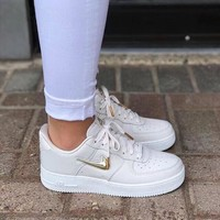 NIKE Air Force 1 WHITE&GOLD