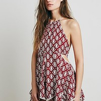Intimately Womens Printed Open Side Romper