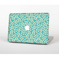 The Blue and Yellow Floral Pattern V43 Skin Set for the Apple MacBook Air 13""