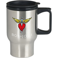 Bon Jovi For Stainless Travel Mug *