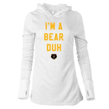 NCAA Baylor Bears H18BAY Women's Long Sleeve Thumbhole Hoodie